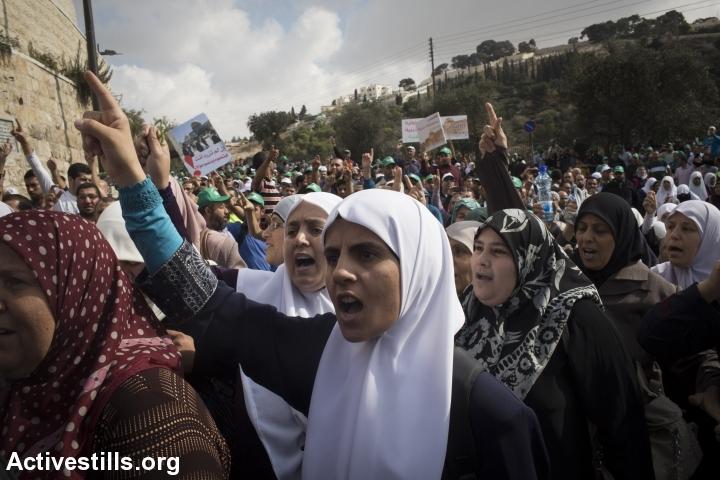 עצרת של התנועה האסלאמית בירושלים להגנה על מסגד אל-אקצא (אורן זיו / אקטיבסטילס)