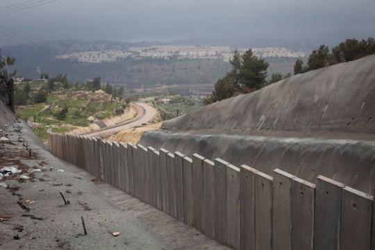 חומת ההפרדה בוואלג'ה. ברקע ירושלים (אורן זיו/אקטיבטסילס)