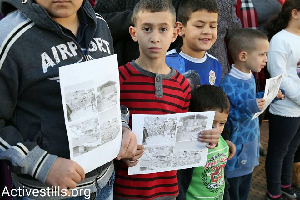 ילדים מפגינים בקלנסווה (קרן מנור/אקטיבסטילס)