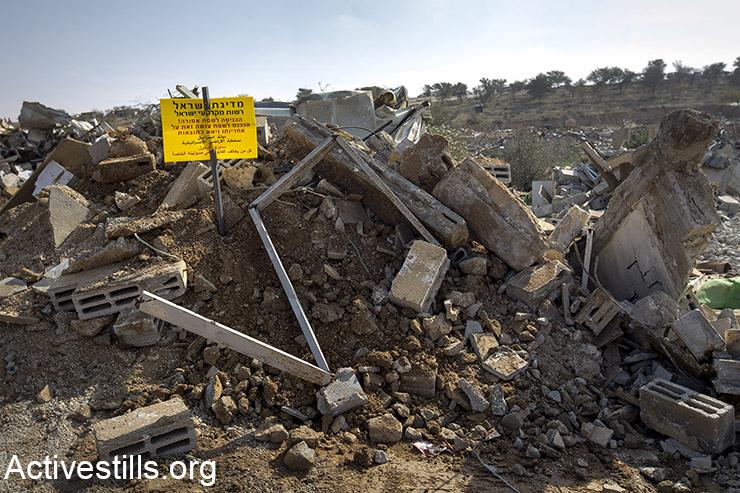 על הריסות הכפר תקים הממשלה ישוב יהודי לתפארת מדינת ישראל. (פאיז אבו רמלה/אקטיבסטילס)