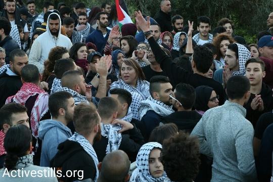 הפגנה בערערה בעקבות הריסות הבתים בקלנסווה ובאום אל-חיראן (קרן מנור / אקטיבסטילס)