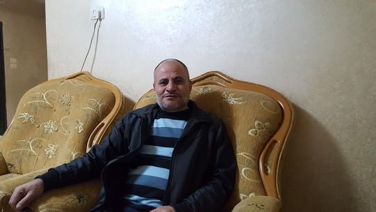 הביקור בן שלושת רבעי השעה על פני ארבע עשרה וחצי שעות. חאלד אברהים (צילום: יואב חיפאווי)