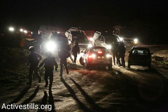 אום אל חיראן הלילה (צילום: קרן מנור, אקטיבסטילס)