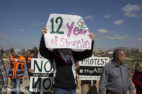 12 שנים של מאבק נגד החומה בבלעין (אורן זיו/אקטיבסטילס)