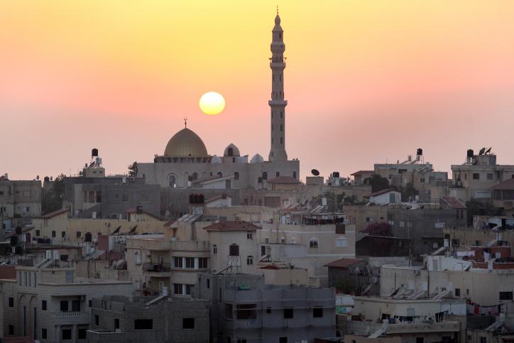 מסגד בלב ג'יסר א-זרקא (משה שי / פלאש90)
