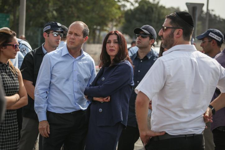 מירי רגב עם ניר ברקת בירושלים (הדס פרוש / פלאש90)
