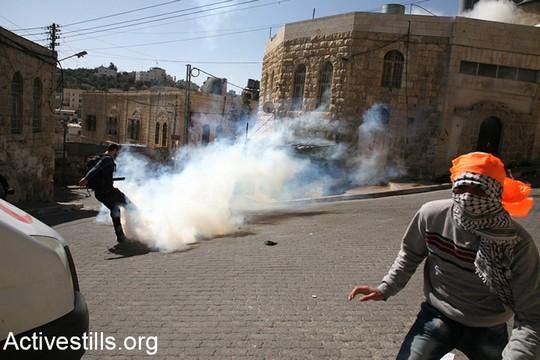החיילים קיבלו את פני הצעדה השלווה בירי מאסיבי של גז מדמיע (היידי מוטולה/אקטיבסטילס)