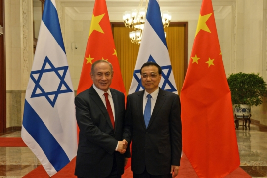 ראש ממשלת סין לי קה-צ'יאנג בפגישתו עם נתניהו (צילום: חיים צח, פלאש90)