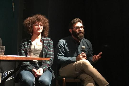מרגישים בבית. היוצרים הצעירים בילאל קרמאן (ימין) ועאידה קעדאן (רמי יונס)