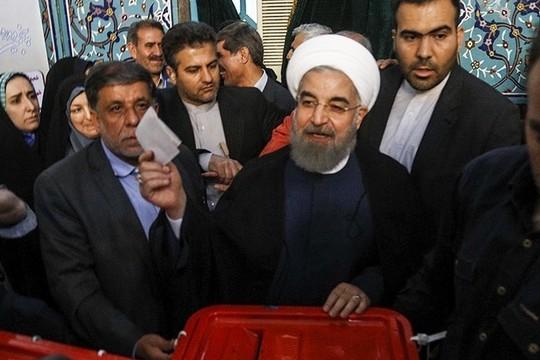 המנצח הגדול. הנשיא חסן רוחאני (צילום: Abbas Shariati ויקימדיה CC BY 4.0)