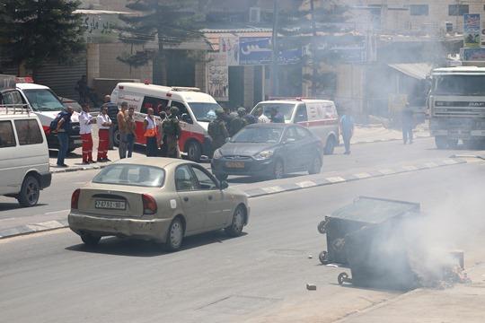 ההפגנה היום בחווארה (צילום: אחמד אל באז, אקטיבסטילס)