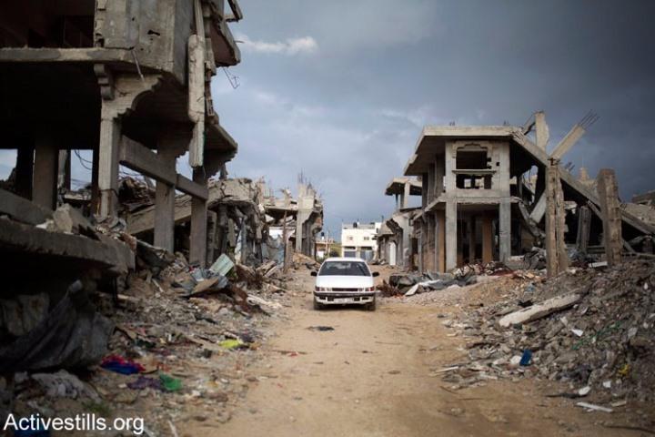 חורבות אחרי המתקפה הישראלית הקטלנית על עזה בקיץ 2014 (אקטיבסטילס)