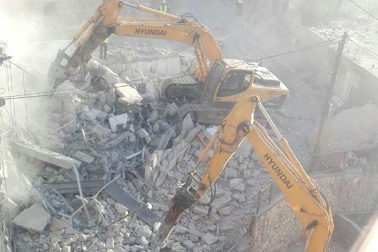 הריסות בתים במזרח ירושלים 15.08.17 (צילום: תושבי השכונה)