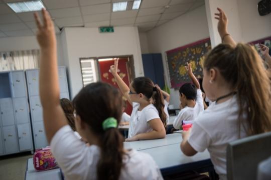אז מי אשם בפערים? כיתת בית ספר (צילום אילוסטרציה: הדס פרוש, פלאש90)