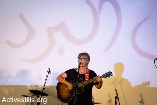 מירה עוואד. פסטיבל סולידריות עם התיאטרון הערבי-עברי ביפו (קרן מנור/אקטיבסטילס)