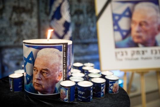 נר לזכר יצחק רבין, צילום: יונתן זינדל, פלאש90