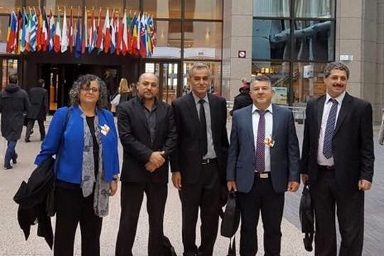 חברי כנסת מהרשימה המשותפת בביקור בפרלמנט האירופי בבריסל (צילום: דוברות הרשימה המשותפת)