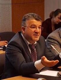 """ח""""כ יוסף ג'בארין, הרשימה המשותפת, בדיון בפרלמנט האירופי (צילום: דוברות הרשימה המשותפת)"""
