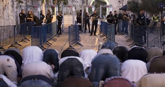 מחאת המגנומטרים, קיץ 2017, ירושלים. (אורן זיו/אקטיבסטילס)