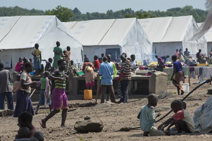 מחנה פליטים בצפון אוגנדה. נפתח לקליטת פליטי מדרום סודאן ביוני 2017. (UN Photo/Mark Garten)