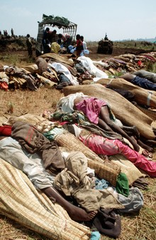 רצח העם ברואנדה, 1994 (צילום: רוז ריינהולדס, משרד ההגנה האמריקאי)
