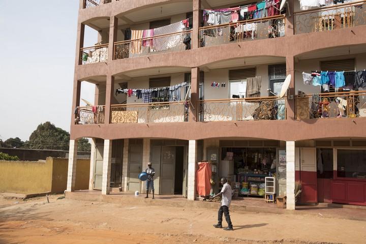 שכונת המהגרים נג'אנה קומבי, בקמפלה בירת אוגנדה. פברואר 2018 (אורן זיו / אקטיבסטילס)