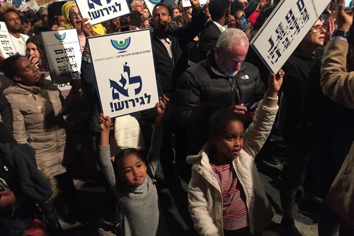 הפגנה נגד הגירוש ובעד דרום תל אביב (חגי מטר)