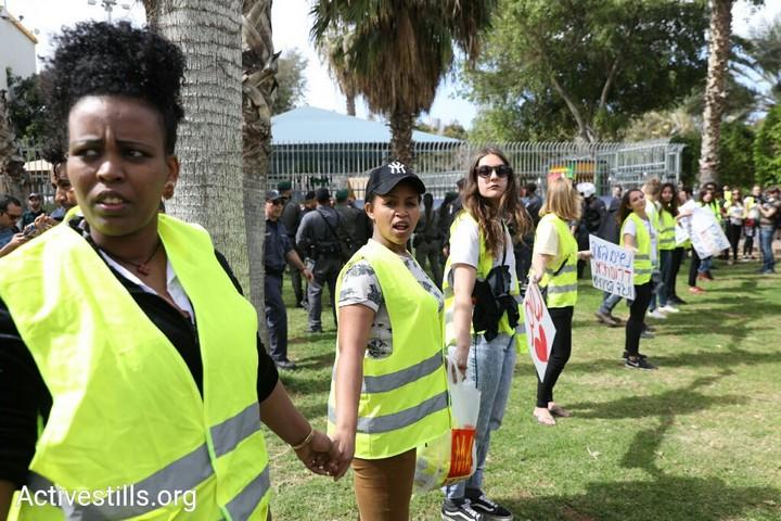 נשים נגד הגירוש, נשים בעד דרום תל אביב. צעדה ליום האשה 2018. (צילום אורן זיו / אקטיבסטילס)
