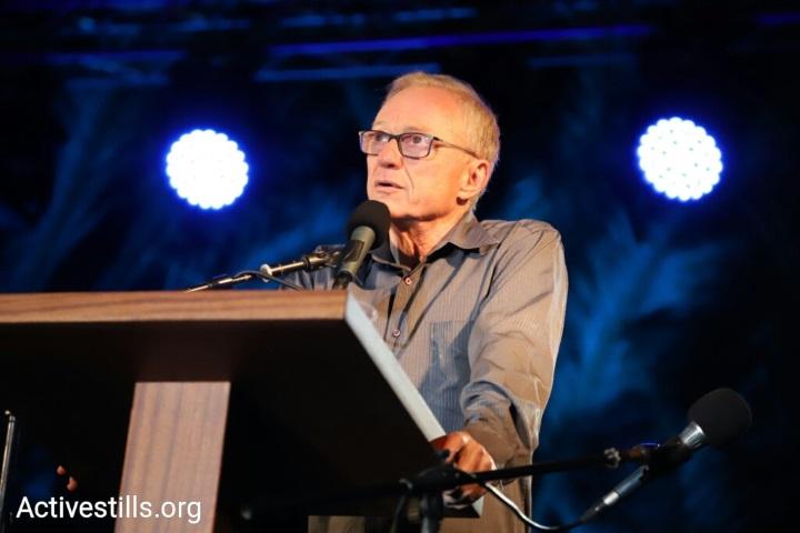 דויד גרוסמן, נואם הערב בטקס הזיכרון המשותף ישראלי- פלסטיני (אורן זיו/ אקטיבסטילס)