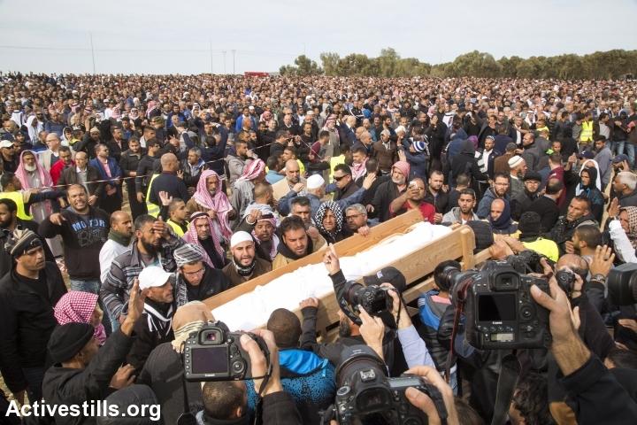 הלוויתו של יעקוב אבו אלקיעאן, ינואר 2017 (קרן מנור/ אקטיבסטילס)
