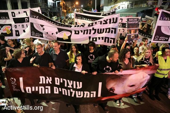 אלפים הפגינו בתל אביב נגד משלוחים חיים, 28.4.18 (אורן זיו / אקטיבסטילס)