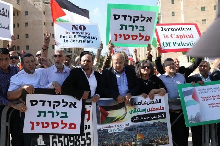 השוטרים החליטו שלא יונפו דגלי פלסטין, למרות שאין שום דבר נגד זה בחוק (אורן זיו / אקטיבסטילס)