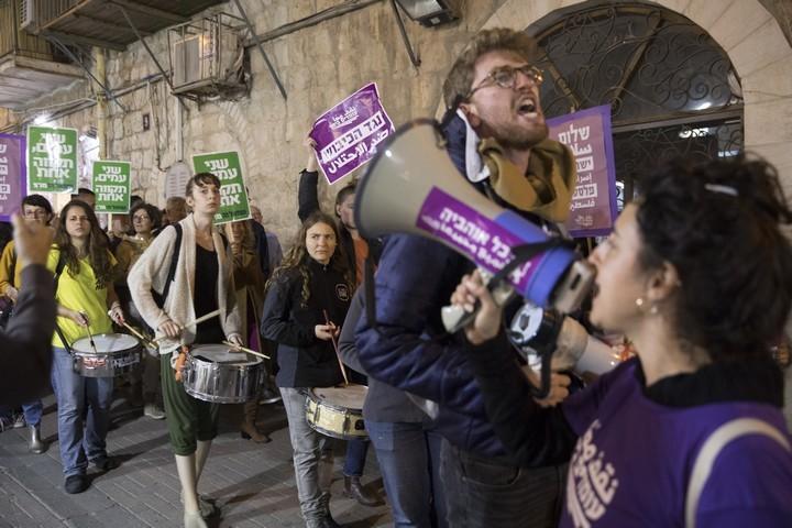 """""""לא להבערת ירושלים"""", הפגנה נגד העברת שגרירות ארה""""ב (אורן זיו / אקטיבסטילס)"""