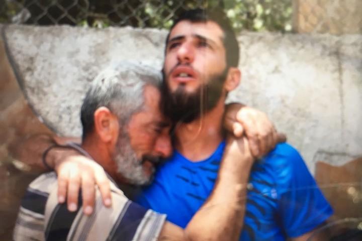 אביו של עז א-דין תמימי בבית החולים ברמאללה (אורן זיו / אקטיבסטילס)