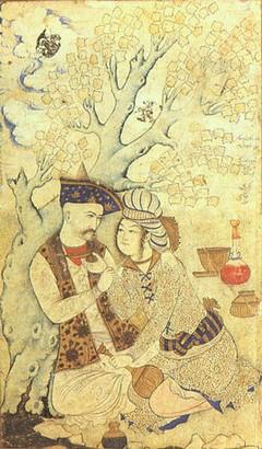איורים ושירה על אהבה בין גברים ולגברים ונשים לנשים מקובלים בתרבות האיסלם. איור