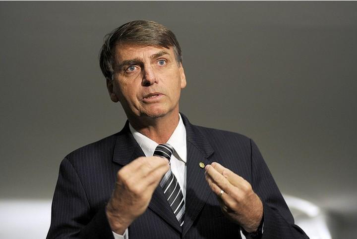 """מועמד הימין הקיצוני ז'איר בולסונארו. """"ברזיל ואלוהים מעל לכל"""" (צילום: Janine Moraes / Câmara dos Deputados)"""