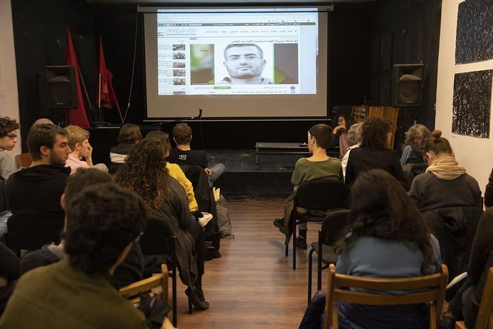 מפגש וירטואלי בין מארגן צעדות השיבה הגדולות בעזה לקבוצת סרבנים בתל אביב (אורן זיו/אקטיבסטילס)