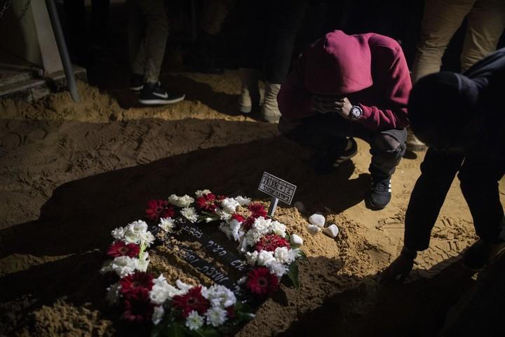 קברו של יהודה ביאדגה שנורה למוות על ידי שוטר. 20 בינואר 2019 (אורן זיו)
