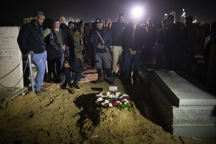 הלוויתו של יהודה ביאדגה שנורה למוות על ידי שוטר. 20 בינואר 2019 (אורן זיו)