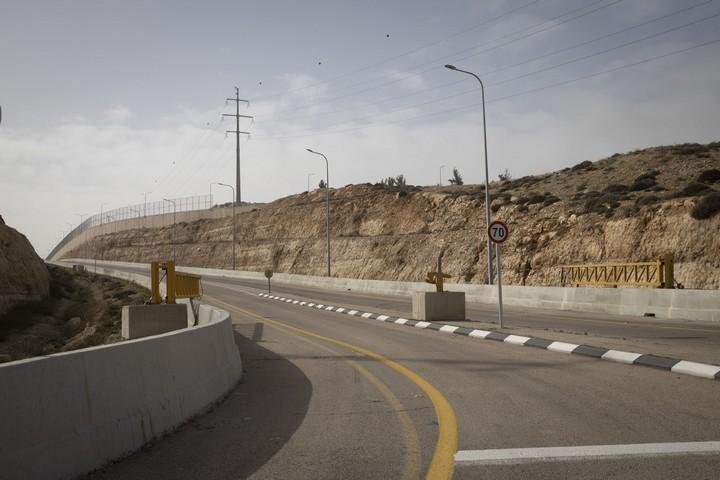 הכניסה לצד הישראלי של כביש 4370 (אורן זיו / אקטיבסטילס)