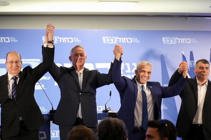 """""""המערכת הפוליטית הישראלית לא בוגרת ואחראית מספיק כדי שאנחנו נהיה גוש חוסם"""". הרביעיה של גנץ (נועם רבקין פנטון / פלאש90)"""