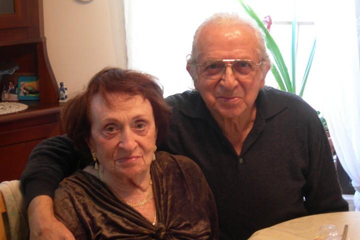 לא החרטו לרגע על שוויתרו על הבית ביפו. גניה והנריק קובלסקי בישראל (צילום באדיבות דבורה מורג)