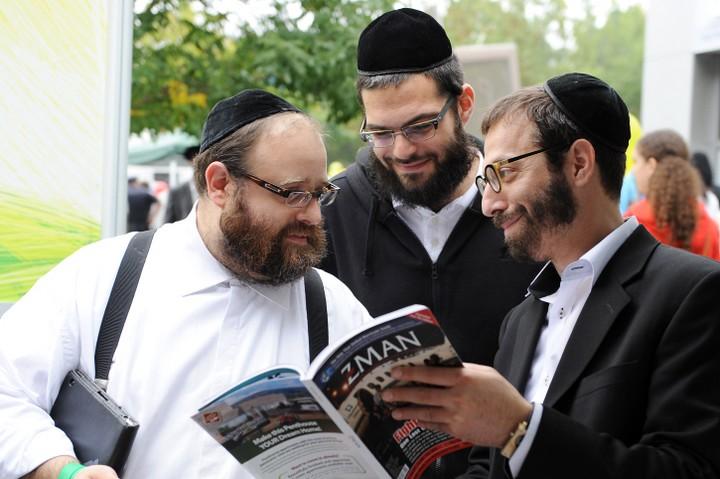 """בארה""""ב המדינה לא מממנת חינוך דתי, אבל החרדים מצאו דרך להתגבר על המכשלה. חרדים בניו יורק (צילום: מנדי הכטמן / פלאש 90)"""