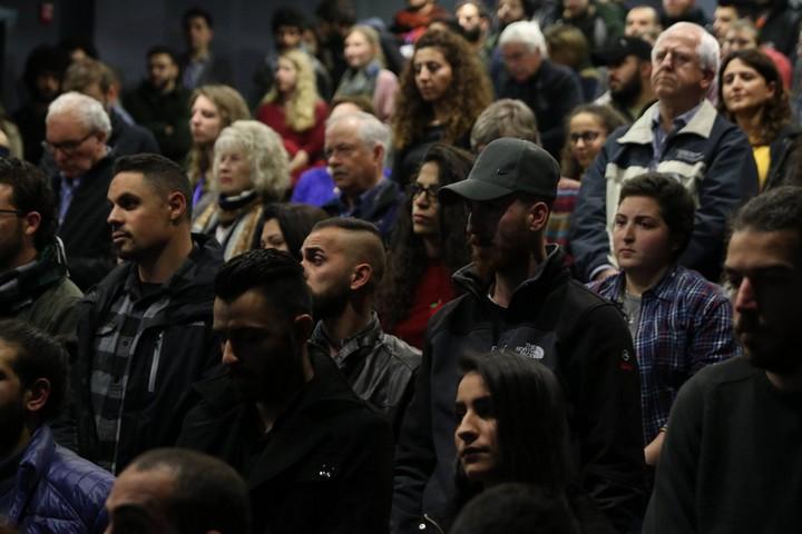 קהל ממלא את אולמות הפסטיבל. (באדיבות פסטיבל הקולנוע הבינלאומי לסטודנטים בבית לחם, מכללת דאר אלכלמה)