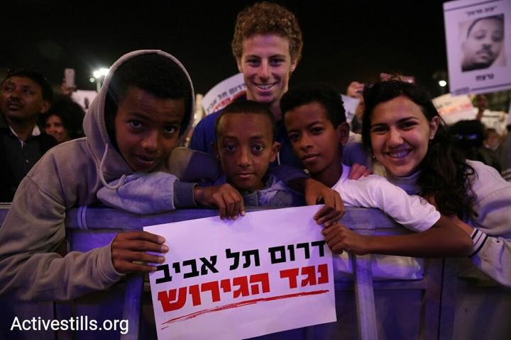 המאבק למען דרום תל אביב ונגד גירוש הפליטים הצליח כי הפך עממי. הפגנה בכיכר רבין נגד הגירוש (צילום: אורן זיו / אקטיבסטילס)