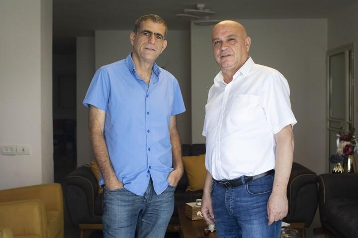 """שותפות היא צו השעה. זה מה שהבוחרים הערבים רוצים"""". עיסאווי פריג' ומוסי רז (צילום: אורן זיו / אקטיבסטילס)"""