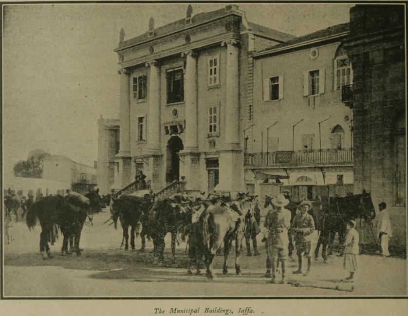 הוקם בסוף המאה ה-19, שימש את המחלקה לשירותים חברתיים בעיריית יפו. בנין הסאראיה בתחילת המאה העשרים (צילום: ויקימדיה)
