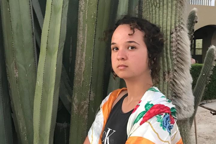"""""""איני יכולה לקחת חלק בצבא שמדכא ומפר את זכויות האדם הבסיסיות של אחיי ואחיותיי הפלסטינים"""", סרבנית הצפון מאיה ברנד-פיגנבאום (צילום: עידו רמון/מסרבות)"""