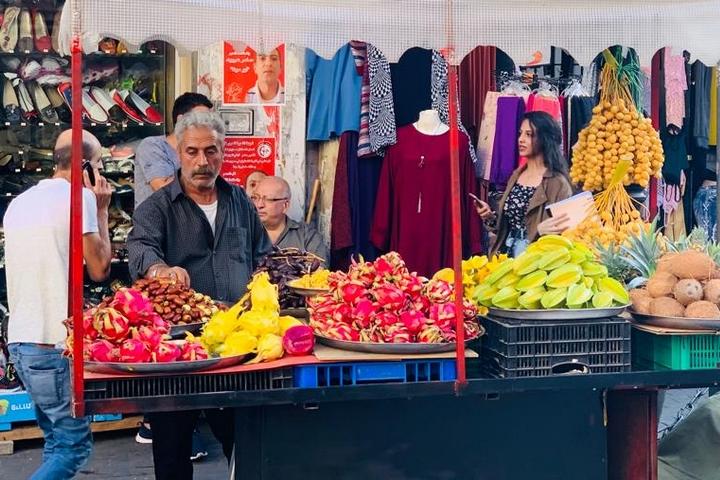 אלחסבה, השוק המרכזי ברמאללה (צילום: סוהא עראף)