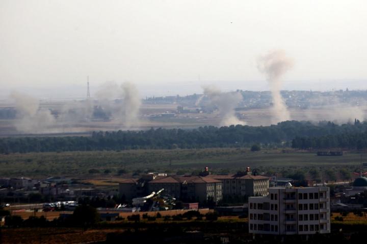 הפצצות על ראס אל עין בסוריה ב-10 באוקטובר 2019 (צילום: Orhan Erkılıç)